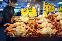 炸螃蟹培训学员店面图