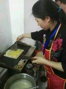 糖醋煎饼培训过程展示