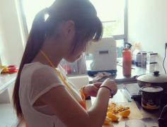 鲜榨果汁培训过程展示