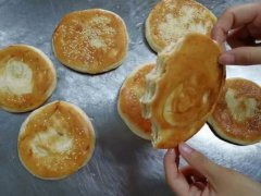 油酥烧饼培训过程展示